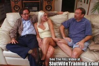 Blondie Wife Fucks 2 While Hubby Watches
