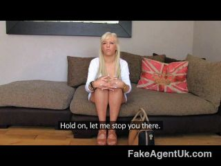 English Blue Eyed Beauty Spoils Agents Cock