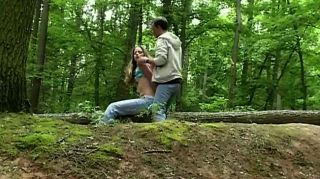 Bdsm Male Drives Slave In The Forest To Play