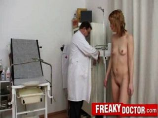 Slim Redhead Beauty Electra Angel Pussy Check-up