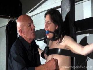 Gagged Slave Honesty Cabelleros Erotic Domination And Nipple Tortures Of Brunett