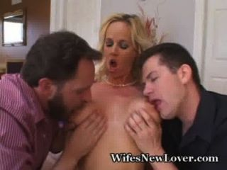 Wifey Ravished By Two Lucky Guys