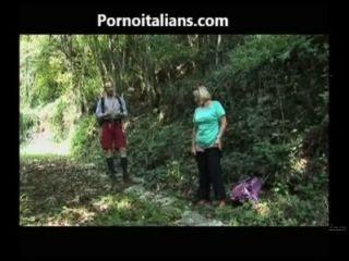 Il Pompino Della Tardona Nel Bosco - The Blowjob Old Girl In The Woods Cazzo Ita