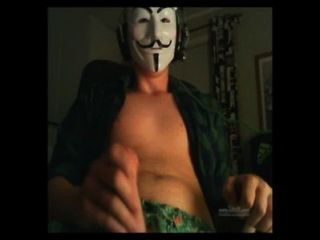 Straight Guy Fawkes Masked Guy Jerks Off