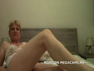 Mature Blonde Wife Teasing On Webcam