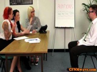 Femdom Office Lady Harmony Reigns Tugging