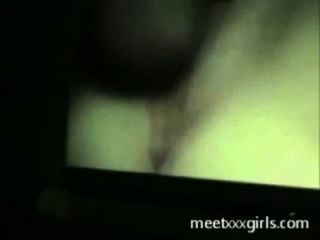Horny Teen Masturbates While Watching Porn