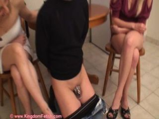 Chastity Slave Is Abused By Wife And Friend