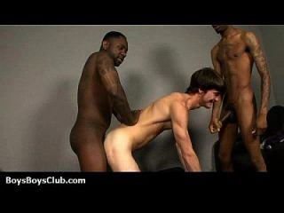 Muscular Black Dudes Fuck Gay White Boys 11