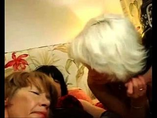 2 Old Women With Crossdressers And Dude