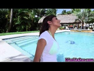 Hot Muslim Babe Sunny Leone With Massive Tits Fucked At Pool