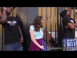 Elektra Rose Gets Fucked By Two Black Guys