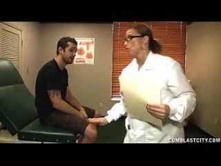 Busty Doctor Heals A Huge Boner