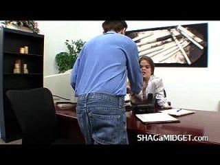 Sexy Midget Boss Fucks Employee