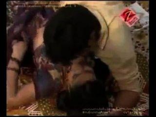 Zee Telugu Soyagam Bgrade Sexy Hot Telugu Aunty Boobs Press Compilation Scene