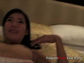 Asian Lady In Hotel Fingers Pussy, Cute Asiangirlslive.net Filipina Strippers