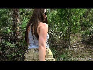 Milf Gets Facial In The Woods. Madisin Lee In Mom
