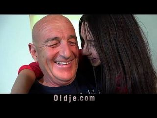 Old Man Fucks His Young Wife On The Kitchen Table