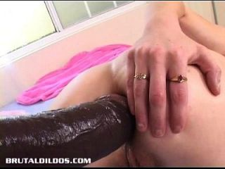 Aaliyah Is Double Penetrated And Gaped By Brutal Dildos