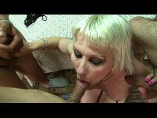 Ghetto Mature Woman Is Gangbanged By Three Guys