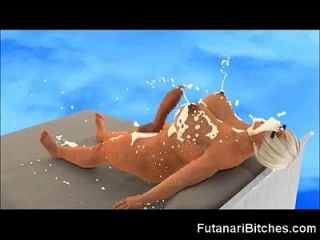 3d Futanari Selfsuck And Huge Self Facial!