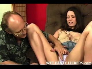 Horny Teen Babysitter Caught Rubbing Her Pussy