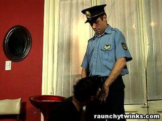 Thief Twink Sucks Pervert Guard