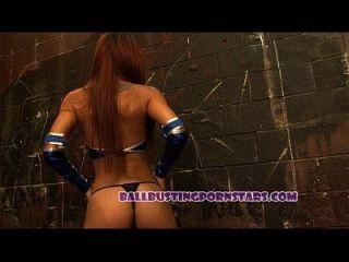 Mortal Kombat Femdom Ballbusting Sex With Crystal Lopez (kitana And Scorpion)