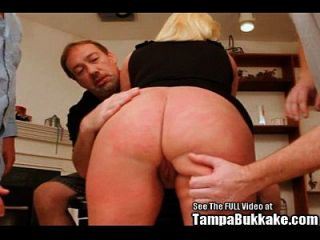 Chubby Blonde Group Fucked At Dirty D