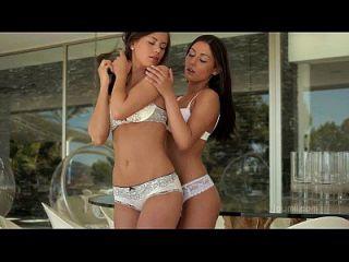 Lesbian Sex Between Beautiful Brunettes