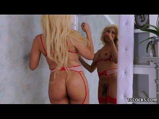 Tranny Brittany Foxx Riding A Big Dick