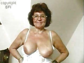 Sweet Granny Masturbating