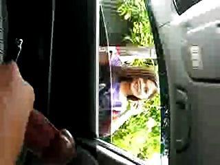 Public Masturbator In Car Exhibition, Helping Girl