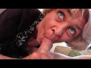 Skinny Granny In Black Stockings Fucks