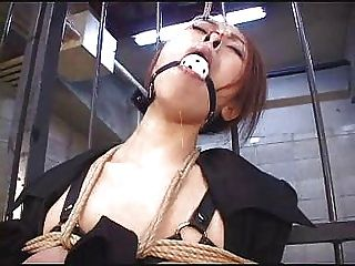 Japanese- Tied Up -wax Play-dildo-nose Clip-clothes Pegs- Tied Upside Down...bmw