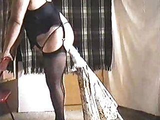Mature Inserts Garden Umbrella Deep Into Her Ass.
