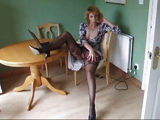 Mature Body Stocking Pantyhose Strip