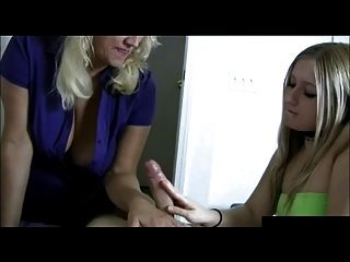 Mom And Daughter Jerk Off Cock