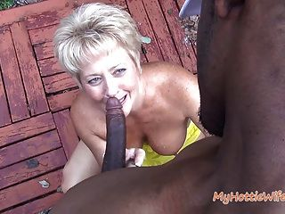Tracy Licks....gets Caught By Naughty Neighbor!