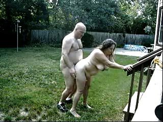 Mature Couple Fuck Outdoors