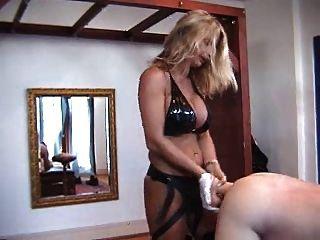 Hard German Mistress Trains Slaves With Horse Dildo Strap-on