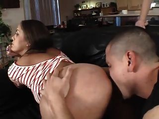 Slutwife barebacked by another man in lazy fuck