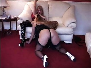 British Slut Faye Rampton In Strap-on Lesbian Action