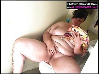 Fat  Plumper Milla In The Bathroom