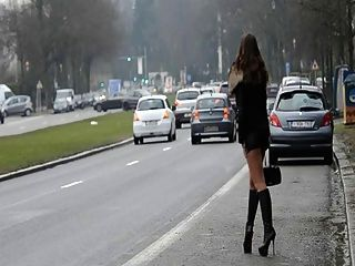 Hooker Forever!! Moving My Ass In Public On The Street