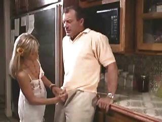 Girl Giving A Handjob To Daddy