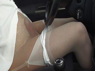 Pantyhose Car And Cumshot