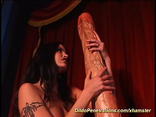 Extreme Monster Dildo Destroyed Her Asshole