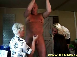 Cfnm Group Suck Off Their Neighbours Hard Dick At Home