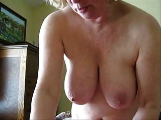 Old Lady Jerking My Cock
